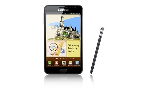Samsung Galaxy Note Video gegen Apple