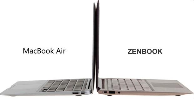Macbook Air vs. Zenbook von Asustek