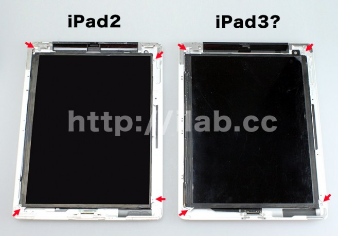 Apple iPad 3 Display von sharp