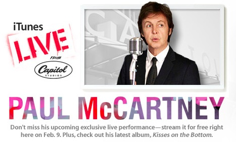 mccartney gratis iTunes Konzert