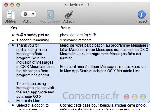 Message für mac nur begrenzt in der BETA nutzbar