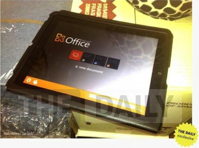 Offizielles Foto von Office für das iPad
