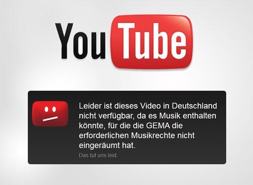 GEMA und gesperrte Youtube videos
