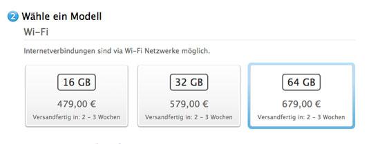 Apple News Österreich Mac Deutschland iPad Lieferzeiten Österreich