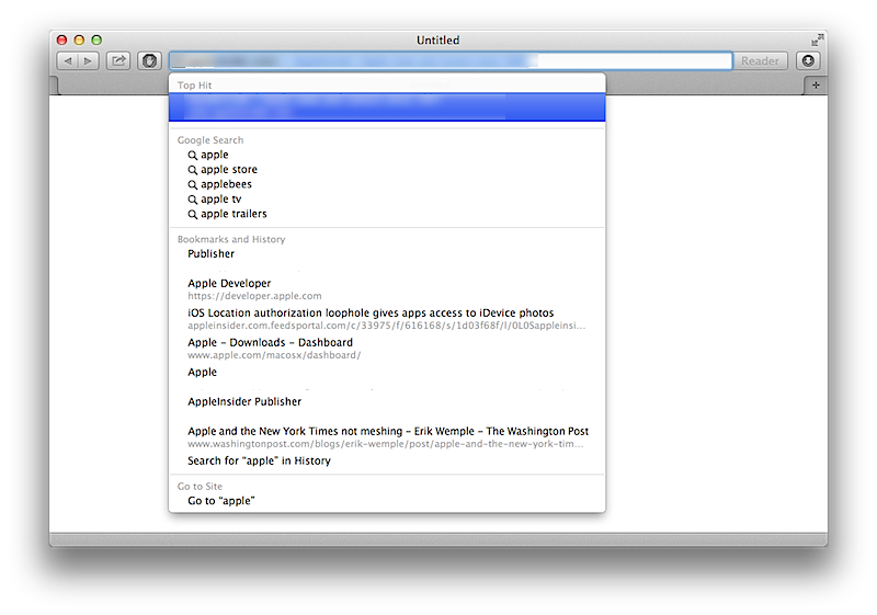 Safari 5.2 unter Mountain Lion