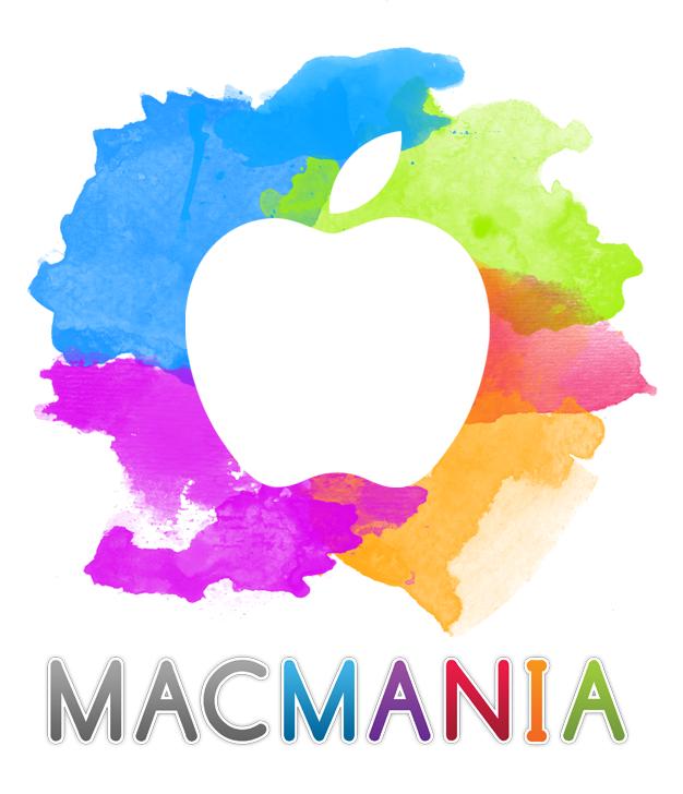 MacMania Logo - white