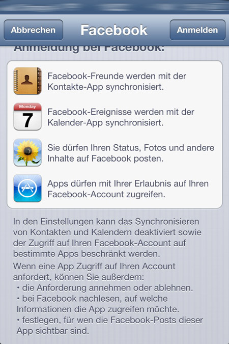 Facebook iOS 6 integration Mac News Österreich