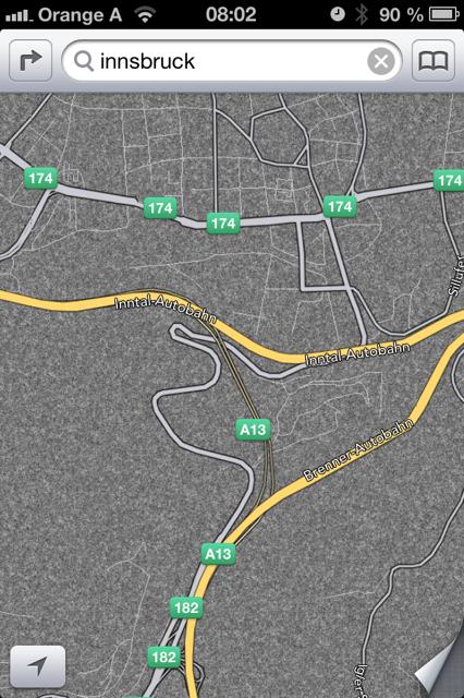 EXCLUSIV: Weitere Screens - iOS Maps Österreich