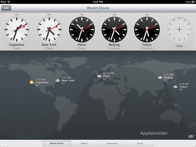 iOS 6 - die Uhr für das iPad