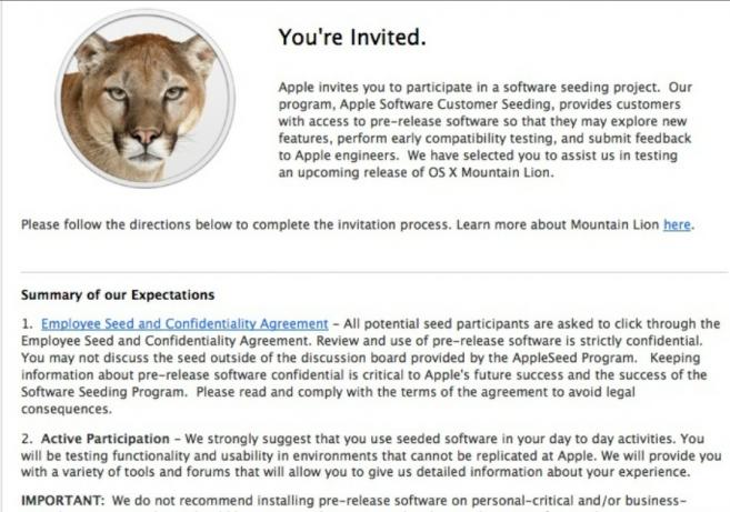 Apple News Mountain Lion Testen Mitarbeiter