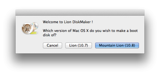 Mountain Lion auf USB Stick