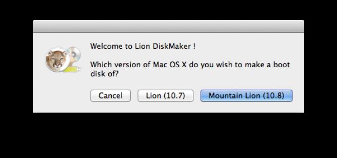 Mountain Lion auf USB Stick