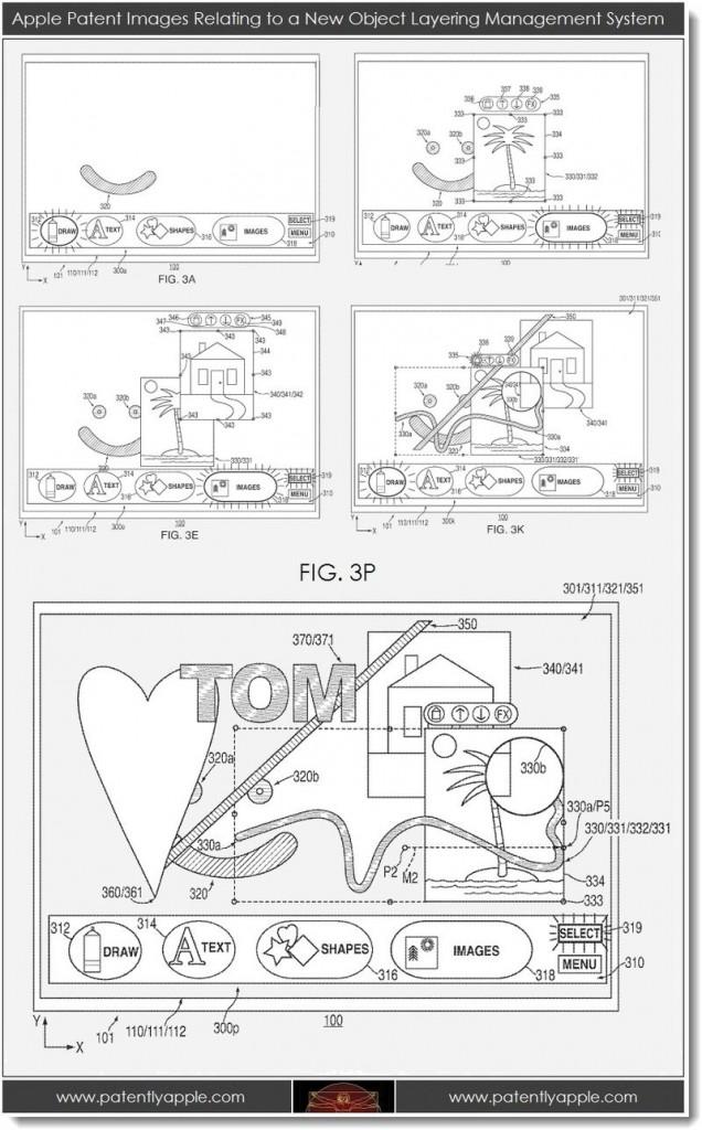 Fotobearbeitung von Apple, Patent