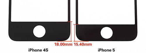Vorderseite von iPhone 4S und iPhone 5 im Vergleich