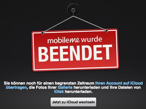 Mobile Me wurde von Apple beendet