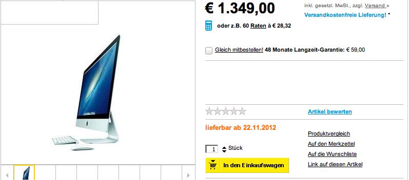 EXKLUSIV: Verkaufsdatum iMac 2012 bekannt?