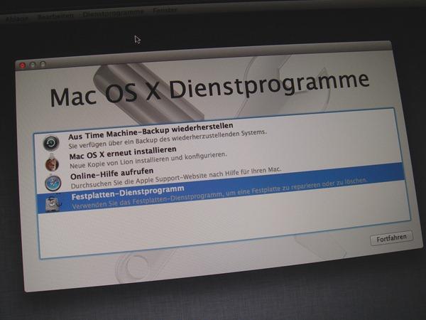 OS X neu aufsetzen bzw. auf Werkseinstellungen zurücksetzten