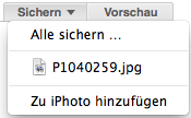 Tipp: Apple Mail - Bilder in iPhoto übertragen