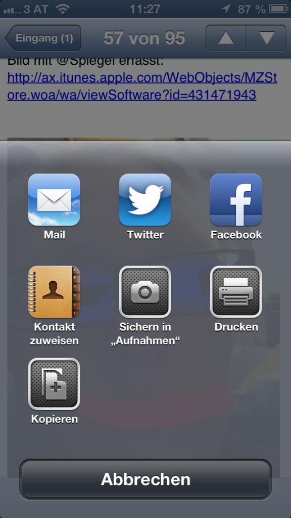iOS-Tipp: Anhang von E-Mails speichern