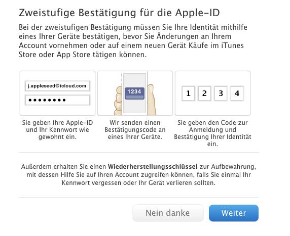 Apple-ID: Zweistufige Bestätigung nun auch in Österreich und Deutschland