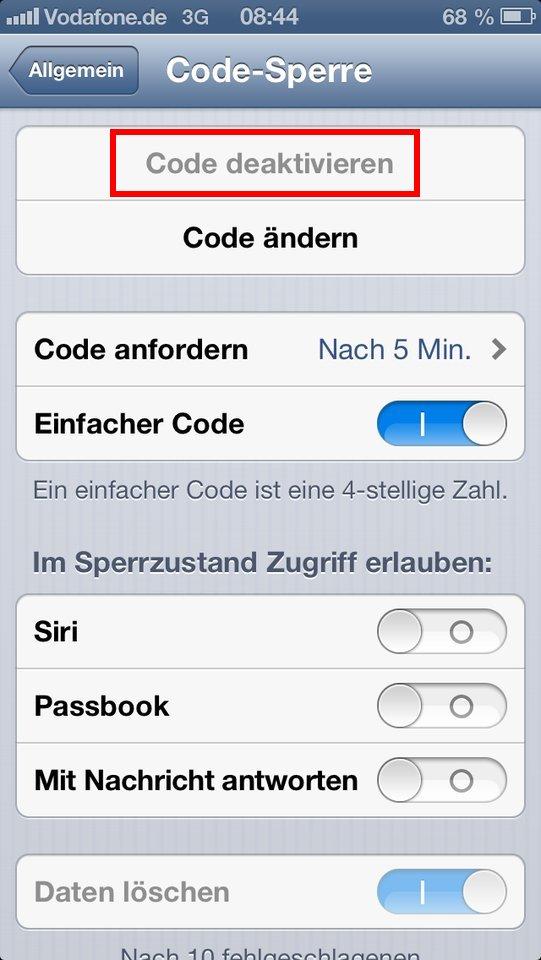 MacHelp: iPhone-Code Sperre lässt sich nicht deaktivieren