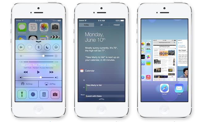 iOS 7 - scrrens