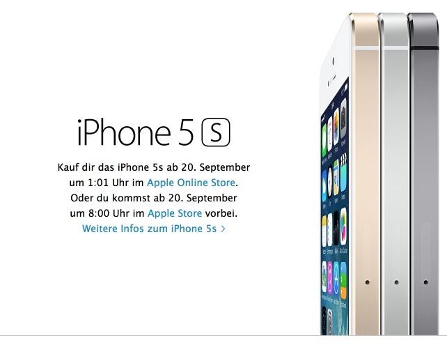 iPhone 5S Vorbestellung