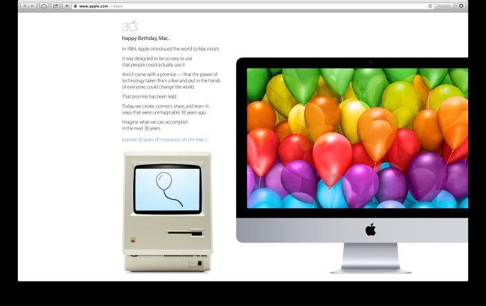 iMac 30 Jahre