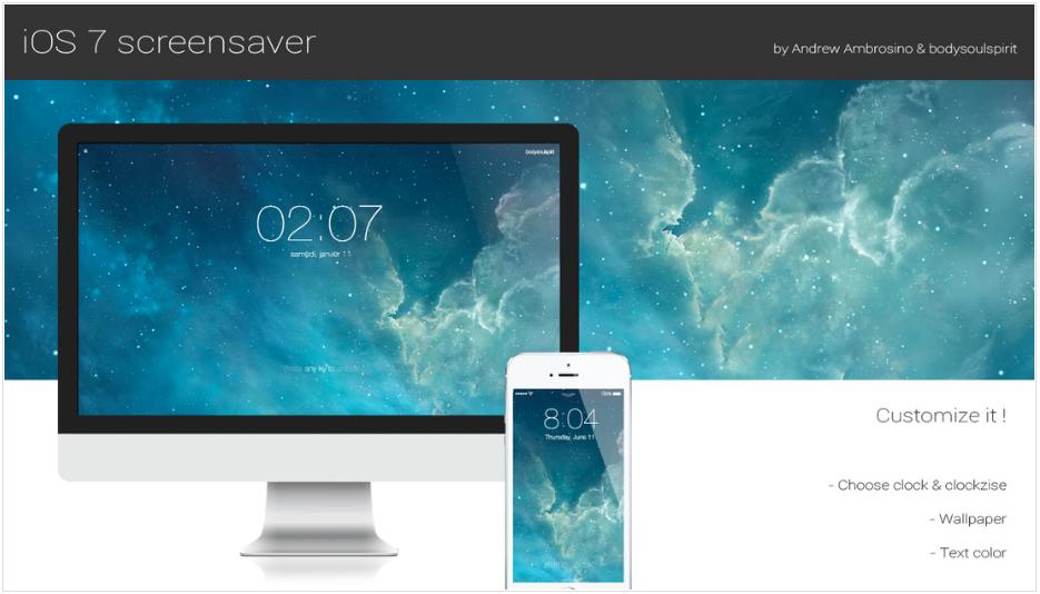 iOS 7 Screensaver