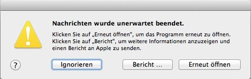 OS X Crash-Report