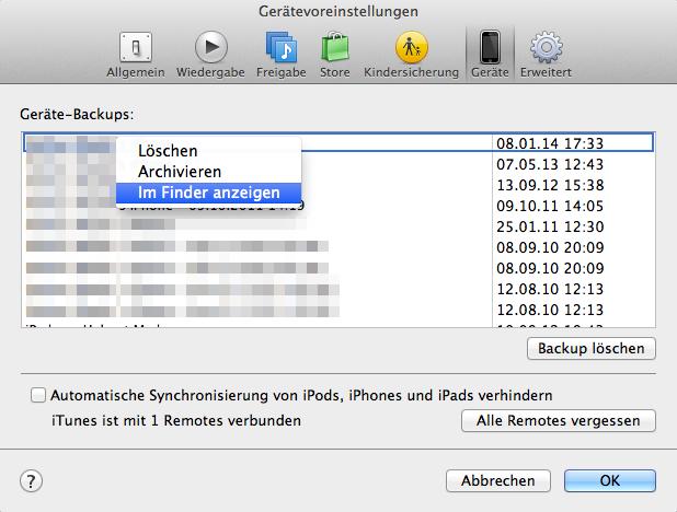 iOS-Backup