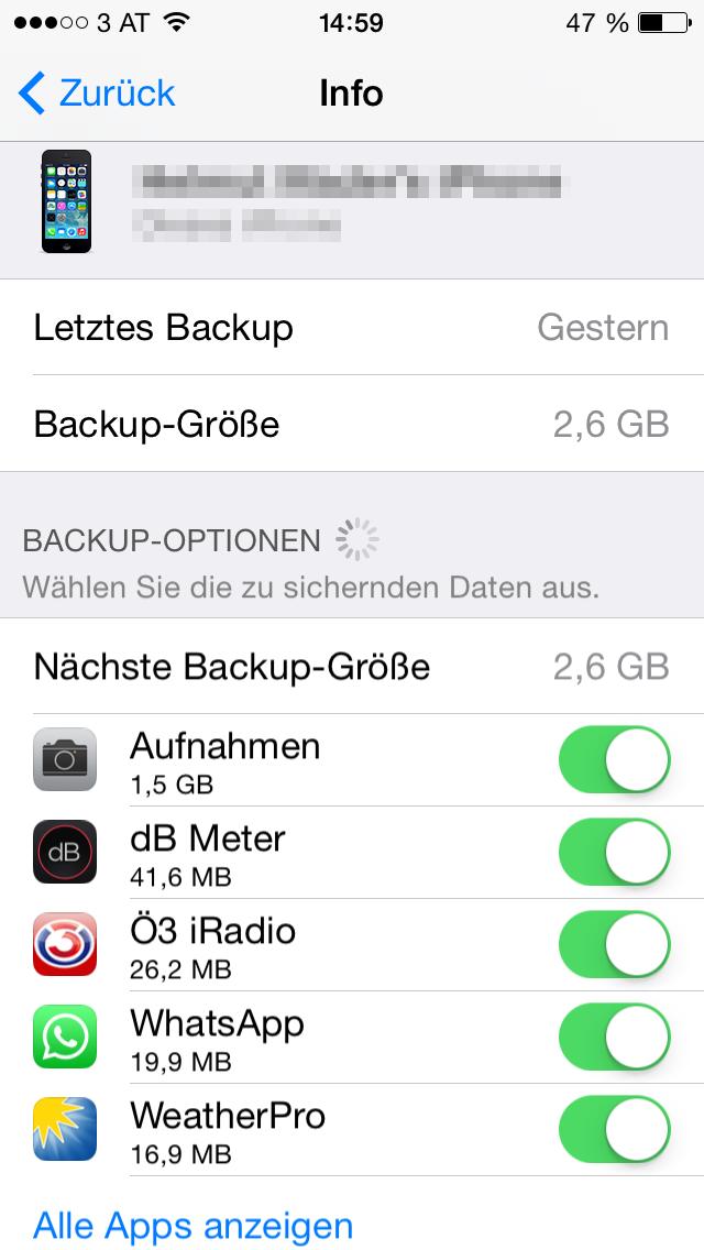 iCloud Speicher 2