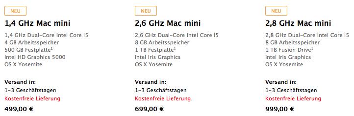 Mac mini neu
