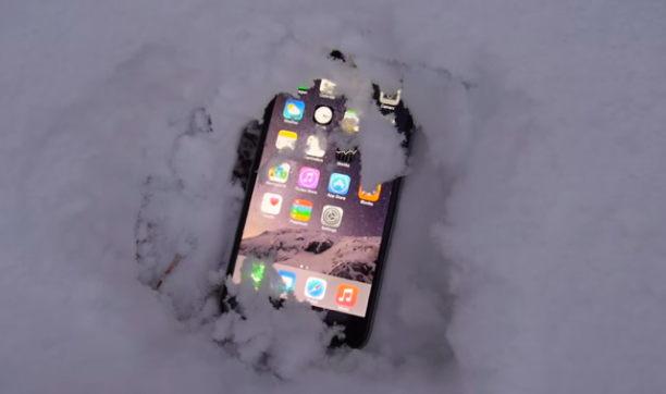 iphone-experiment-mit-schnee