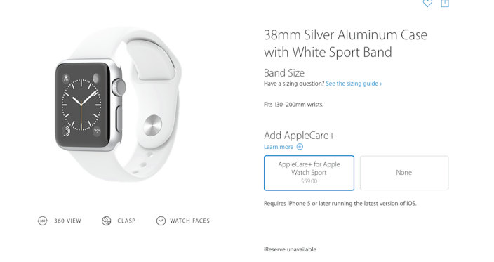 Appe care+ Apple Watch