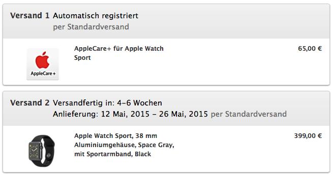 Bestellung Apple Watch