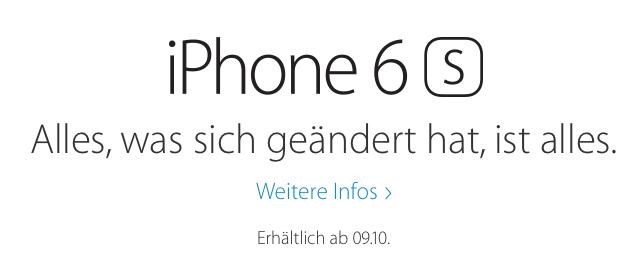 iPhone 6S Oktober