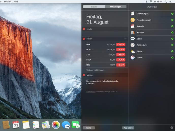 OS X El Capitan - Freunde suchen