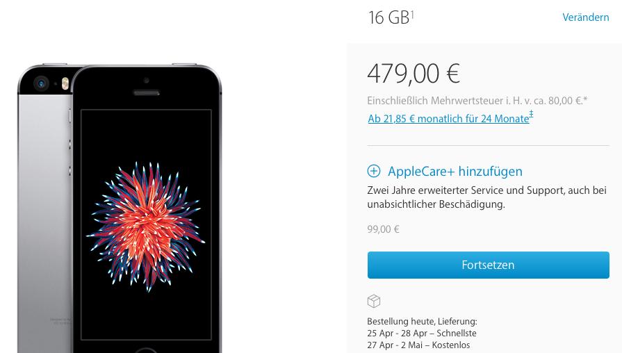 iPhone SE Lieferzeit