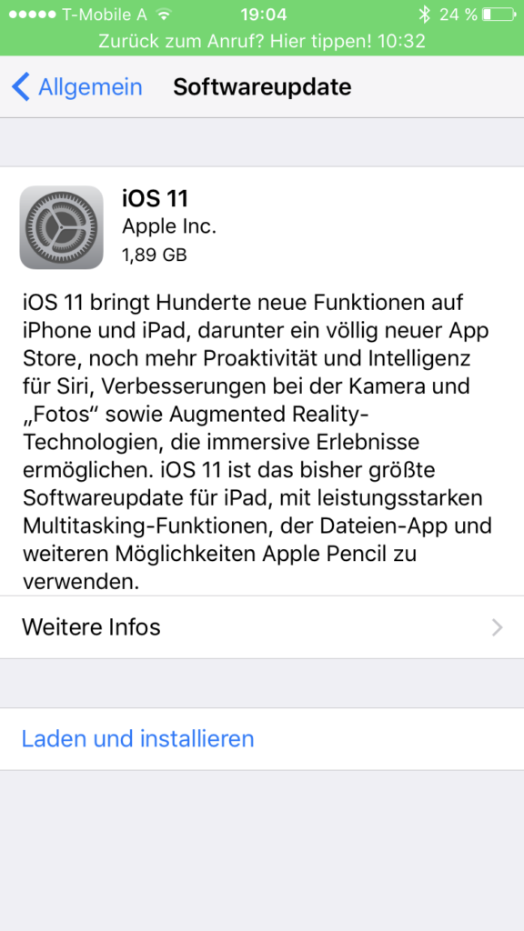 Shortnews: iOS 11 Download verfügbar