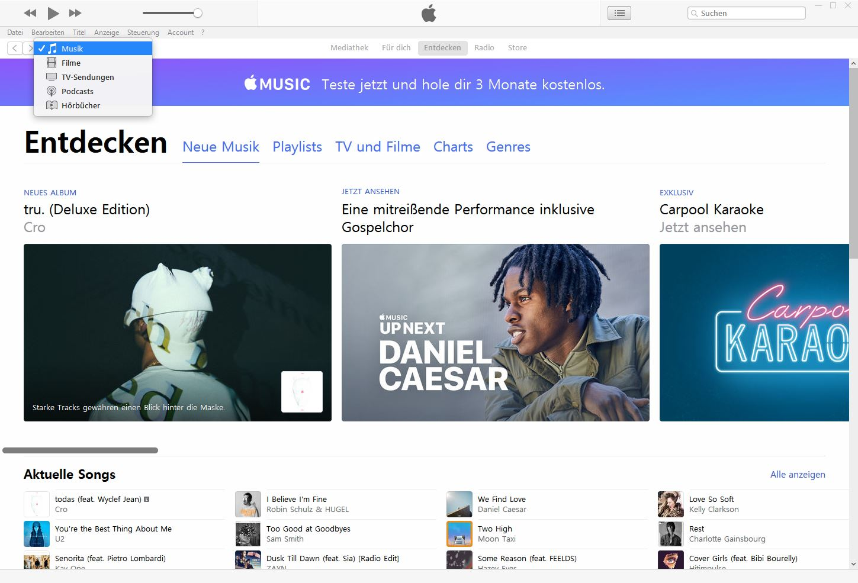 iTunes Rationalisierungsmaßnahmen